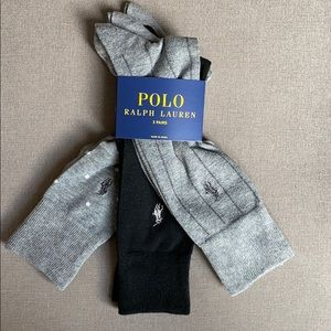 Polo Ralph Lauren 3 Pack Assorted Crew Dress Socks